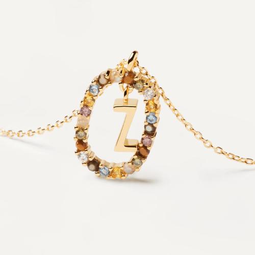 Ασημένιο επιχρυσωμένο κολιέ-Ζ-κοσμήματα Μαμόγλου