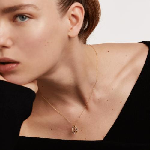 Ασημένιο επιχρυσωμένο κολιέ-Cc-κοσμήματα Μαμόγλου