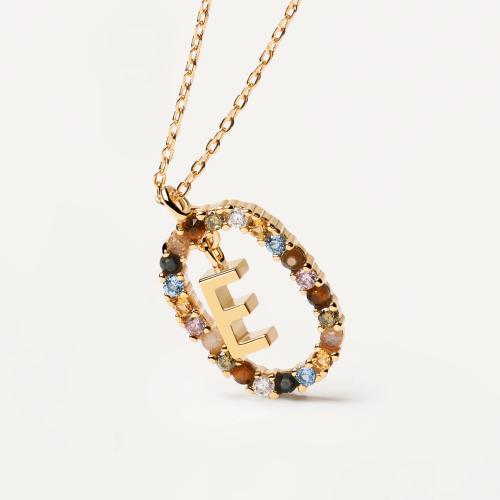 Ασημένιο επιχρυσωμένο κολιέ-E-κοσμήματα Μαμόγλου