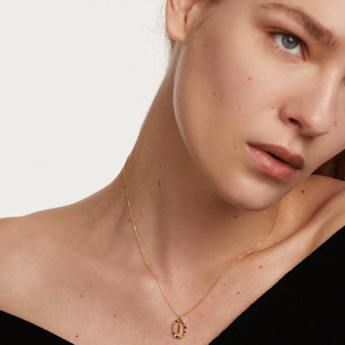 Ασημένιο επιχρυσωμένο κολιέ-Ii-κοσμήματα Μαμόγλου