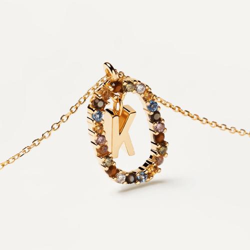 Ασημένιο επιχρυσωμένο κολιέ-K-κοσμήματα Μαμόγλου