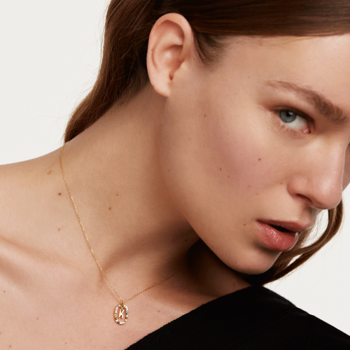 Ασημένιο επιχρυσωμένο κολιέ-Kk-κοσμήματα Μαμόγλου
