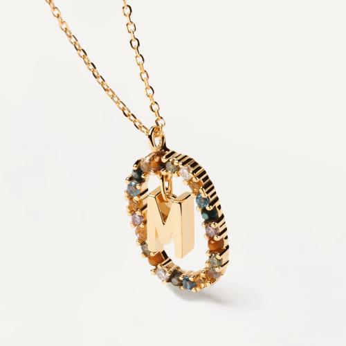 Ασημένιο επιχρυσωμένο κολιέ-M-κοσμήματα Μαμόγλου