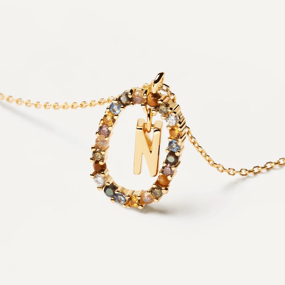 Ασημένιο επιχρυσωμένο κολιέ-N-κοσμήματα Μαμόγλου
