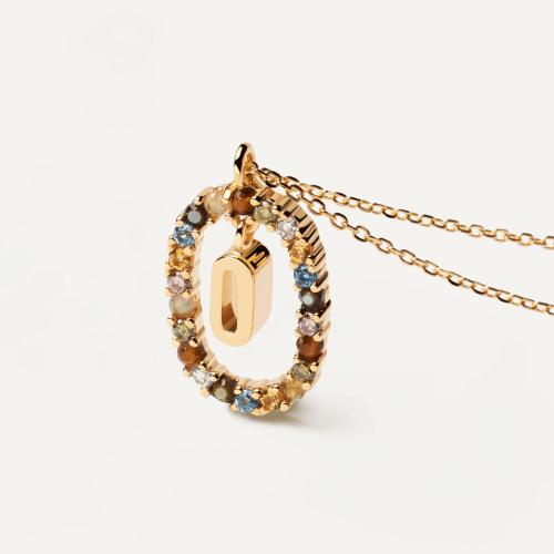 Ασημένιο επιχρυσωμένο κολιέ-O-κοσμήματα Μαμόγλου