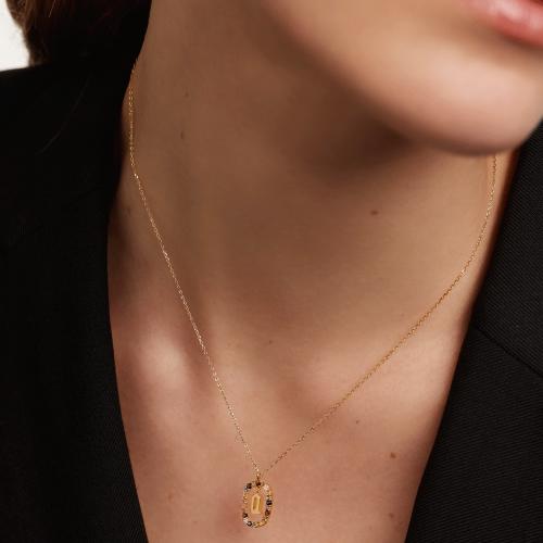 Ασημένιο επιχρυσωμένο κολιέ-Qq-κοσμήματα Μαμόγλου