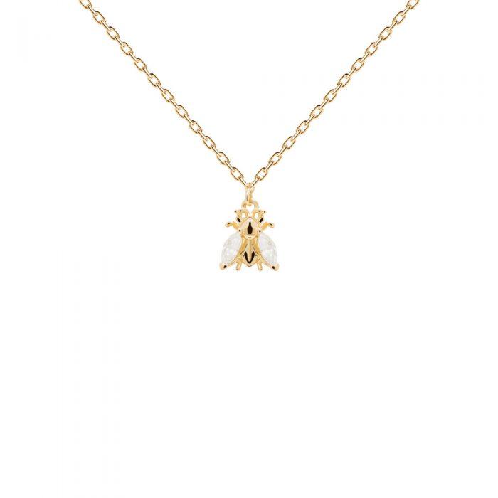 Ασημένιο επιχρυσωμένο κολιέ buzz gold-a-κοσμήματα Μαμόγλου