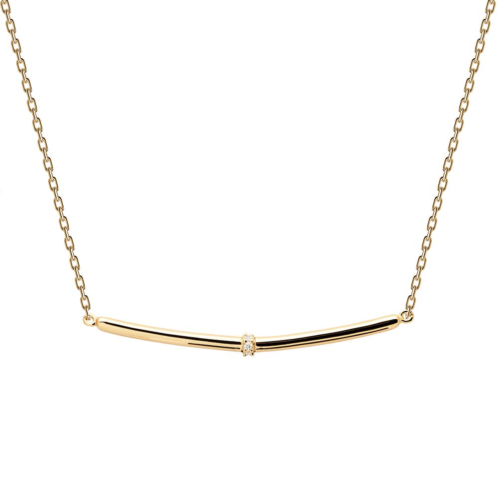 Ασημένιο επιχρυσωμένο κολιέ horizon gold-a-κοσμήματα Μαμόγλου