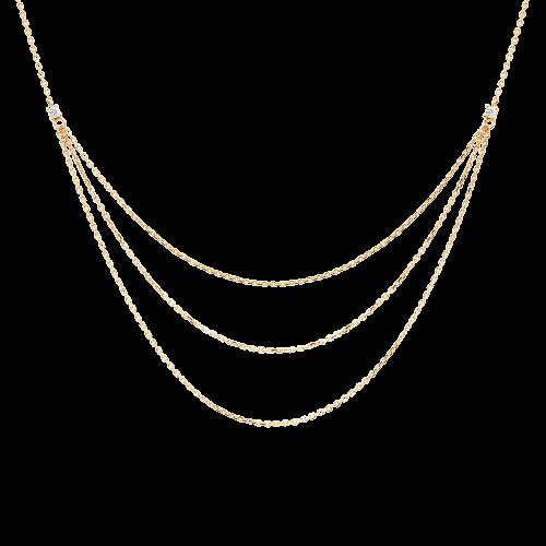 Ασημένιο επιχρυσωμένο κολιέ nia gold-a-κοσμήματα Μαμόγλου