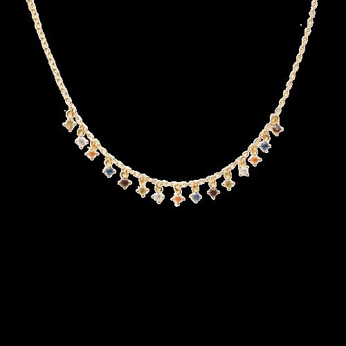 Ασημένιο επιχρυσωμένο κολιέ willow gold-a-κοσμήματα Μαμόγλου
