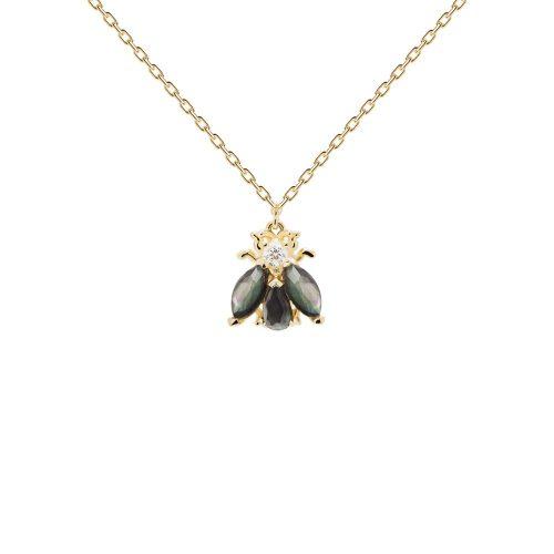 Ασημένιο επιχρυσωμένο κολιέ zaza gold-a-κοσμήματα Μαμόγλου