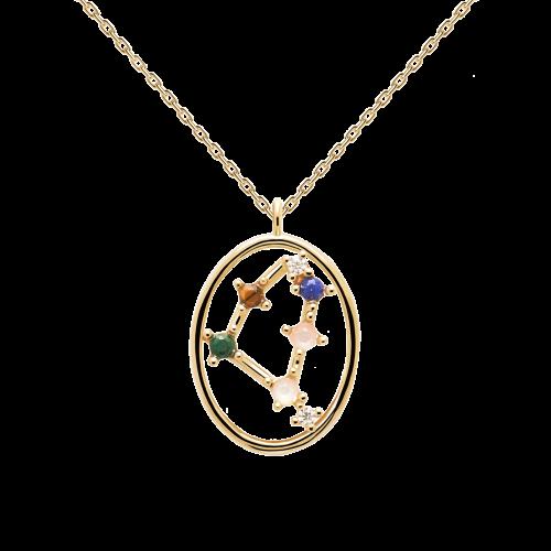 Ζώδιο αιγόκερως κολιέ ασημένιο επιχρυσωμένο-κοσμήματα Μαμόγλου Αθήνα
