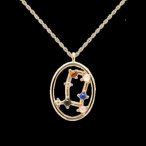 Ζώδιο δίδυμος κολιέ ασημένιο επιχρυσωμένο-κοσμήματα Μαμόγλου Αθήνα