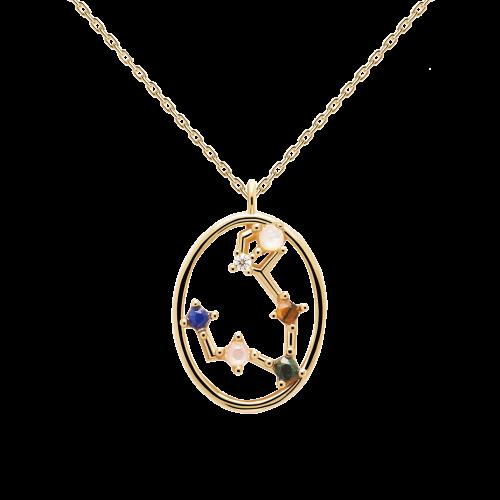 Ζώδιο ιχθείς κολιέ ασημένιο επιχρυσωμένο-κοσμήματα Μαμόγλου Αθήνα