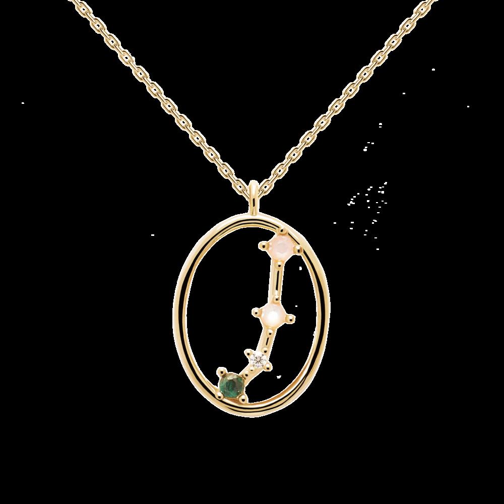 Ζώδιο κριός κολιέ ασημένιο επιχρυσωμένο-κοσμήματα Μαμόγλου Αθήνα