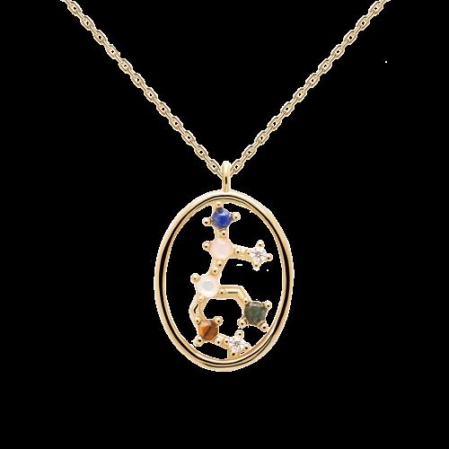 Ζώδιο παρθένος κολιέ ασημένιο επιχρυσωμένο-κοσμήματα Μαμόγλου Αθήνα