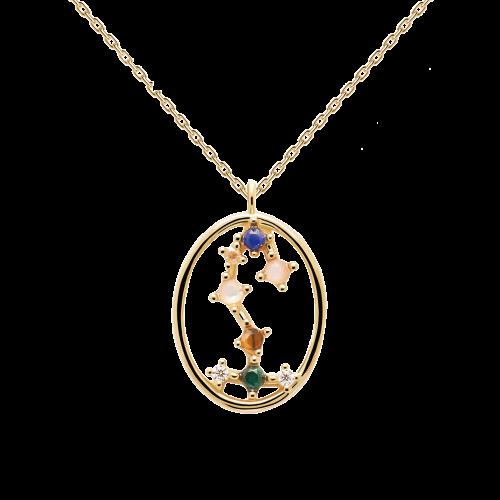 Ζώδιο σκορπιός κολιέ ασημένιο επιχρυσωμένο-κοσμήματα Μαμόγλου Αθήνα