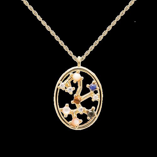 Ζώδιο τοξότης κολιέ ασημένιο επιχρυσωμένο-κοσμήματα Μαμόγλου Αθήνα