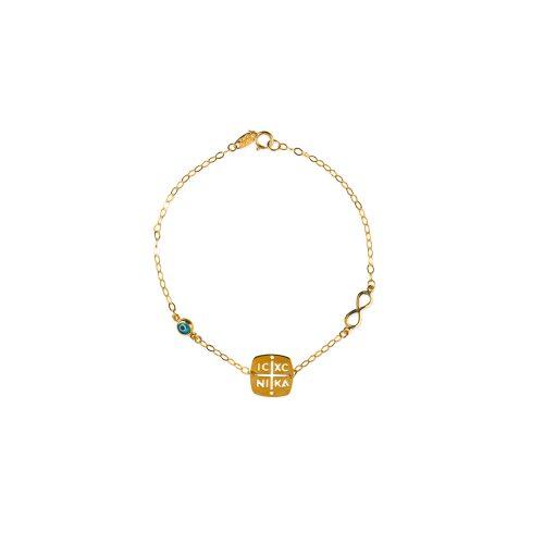 Βραχιόλι χρυσό Κ9 κωνσταντινάτο-7-κοσμήματα μαμόγλου Αθήνα