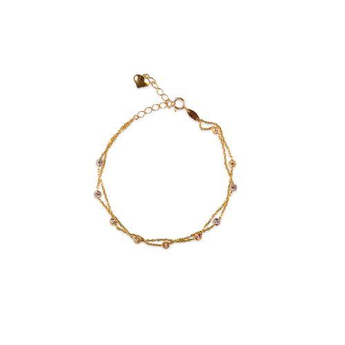 Βραχιόλι χρυσό διπλό Κ9-185-κοσμήματα μαμόγλου Αθήνα