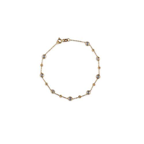 Βραχιόλι χρυσό με ζιργκόν Κ14-185-κοσμήματα μαμόγλου Αθήνα