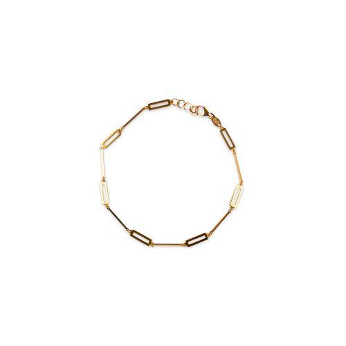 Βραχιόλι χρυσό ορθογώνια Κ9-150-κοσμήματα μαμόγλου Αθήνα