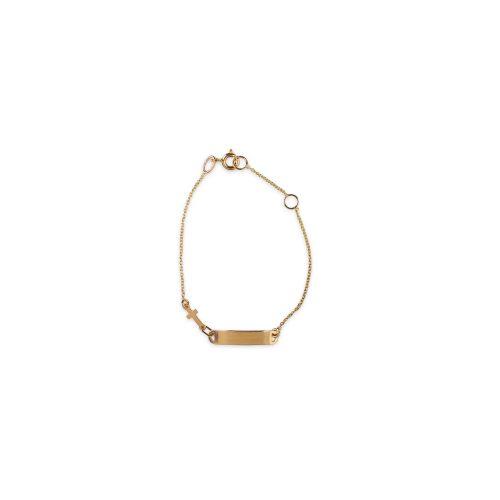 Βραχιόλι χρυσό ταυτότητα Κ14-780-κοσμήματα μαμόγλου Αθήνα