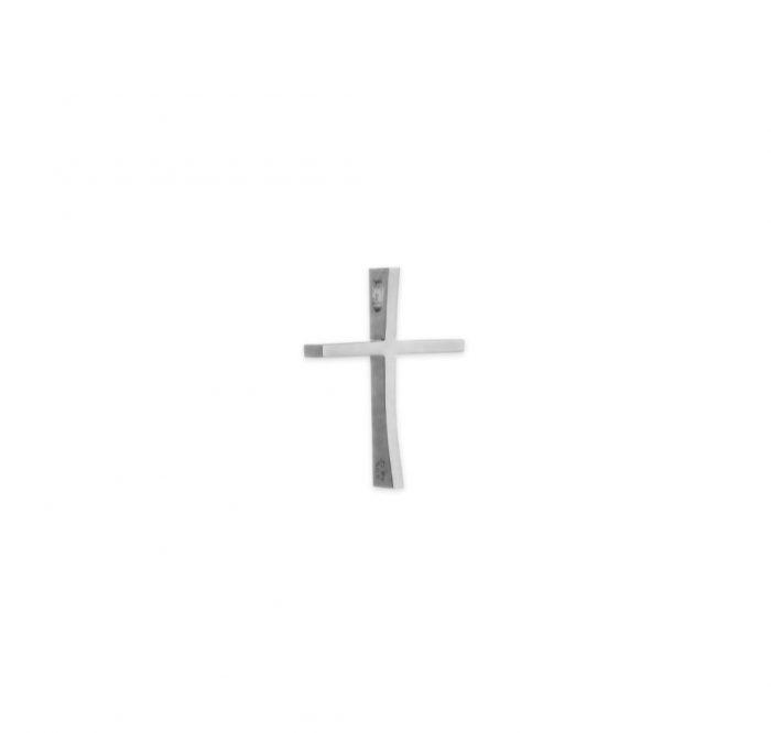 Λευκόχρυσος σταυρός Κ14 με κούρμπα μεγάλος-κοσμήματα μαμόγλου αθήνα