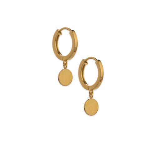 Χρυσά κρικάκια Κ9 με φλουρί-5-κοσμήματα μαμόγλου Αθήνα
