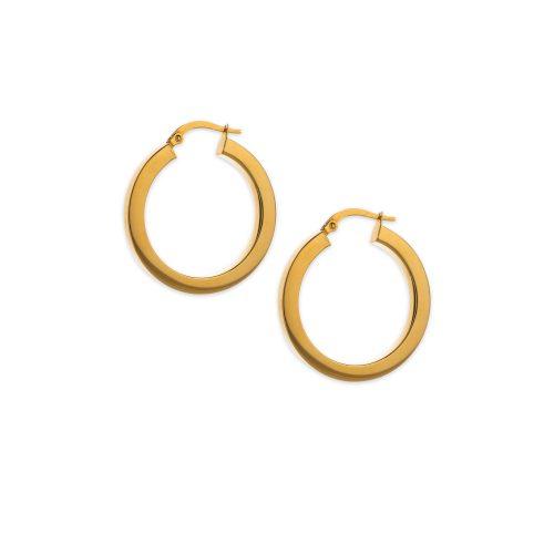 Χρυσοί κρίκοι Κ14 τετραγωνισμένο-235-κοσμήματα μαμόγλου Αθήνα