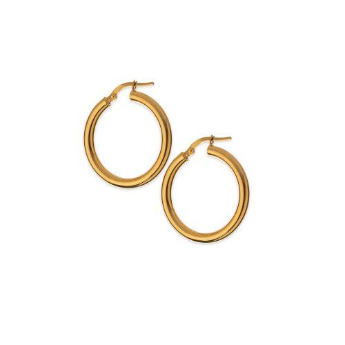 Χρυσοί κρίκοι Κ14 -09-κοσμήματα μαμόγλου Αθήνα