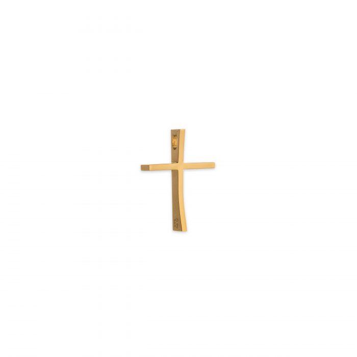 Χρυσός σταυρός Κ14 με κούρμπα μεγάλος-κοσμήματα μαμόγλου αθήνα