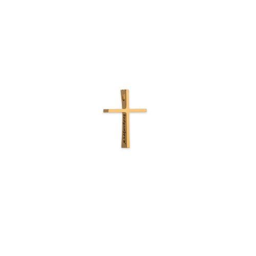 Χρυσός σταυρός Κ14 με κούρμπα μικρός β-κοσμήματα μαμόγλου αθήνα