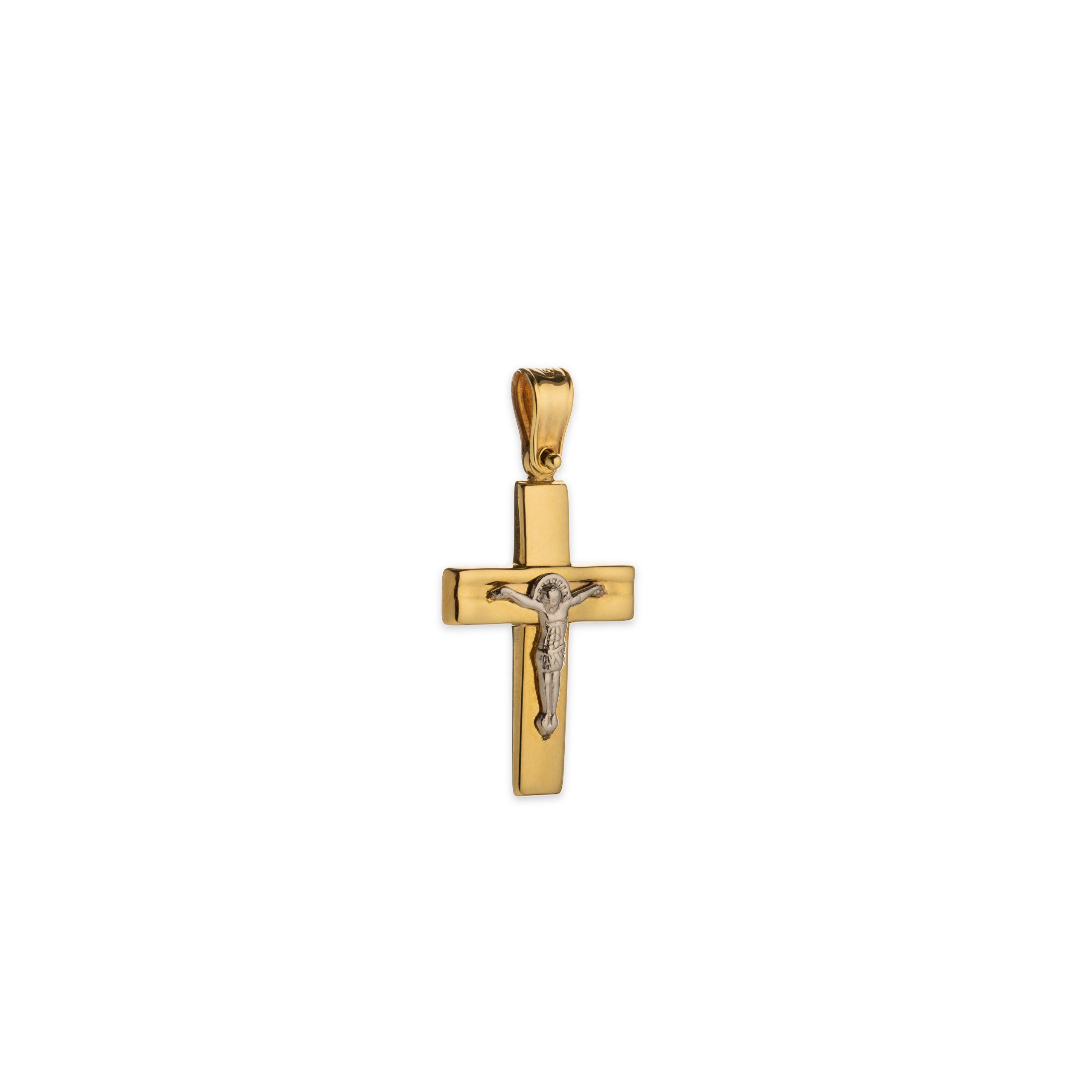 Χρυσός σταυρός Κ14-1002-κοσμήματα μαμόγλου αθήνα