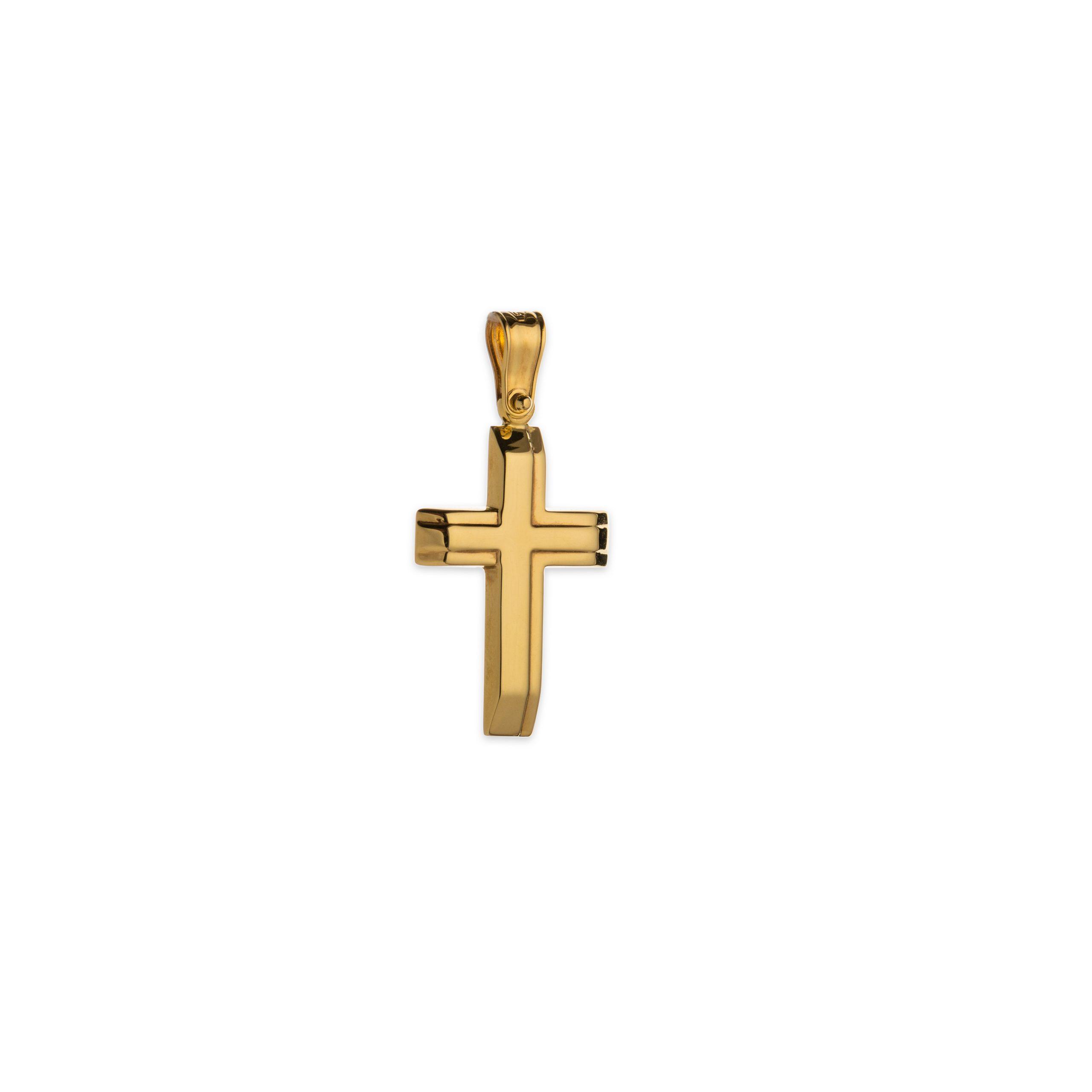 Χρυσός σταυρός Κ14-1005-κοσμήματα μαμόγλου αθήνα